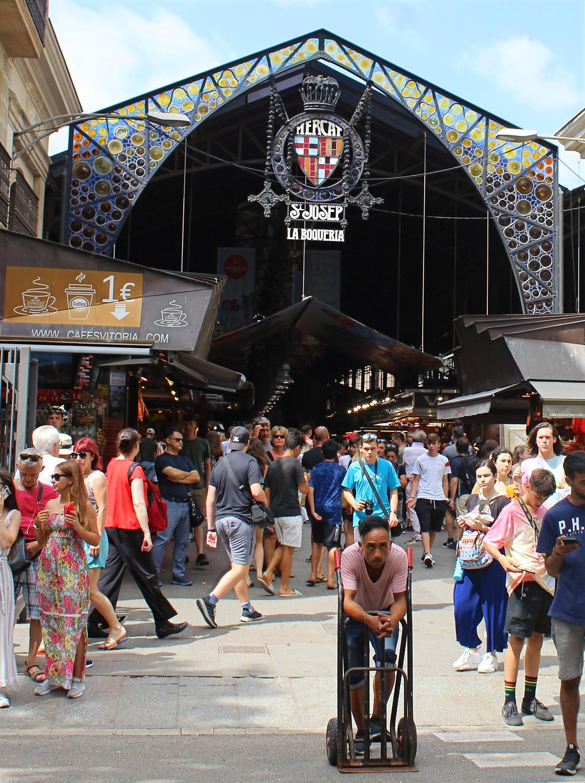 Mercat de la Boqueria in Barcelona, Spain