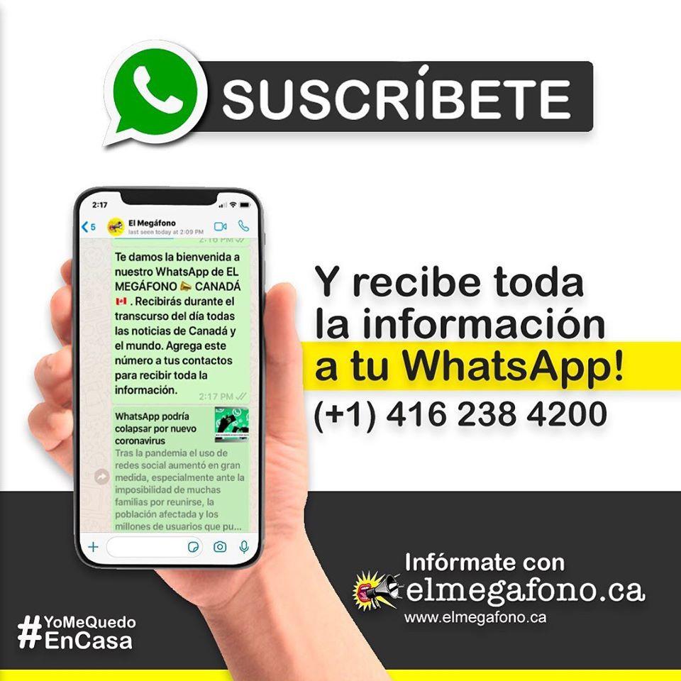 Recibe nuestras noticias en tu celular!