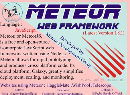 Meteor - A Webframework