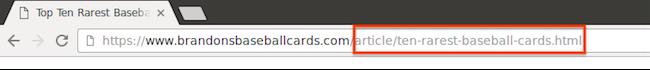 Google référencement - Des urls simple exemple 2