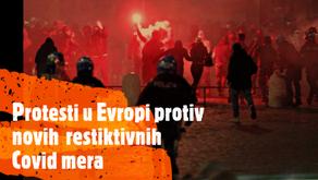 Protesti u Evropi protiv restriktivnih covid19 mera Italija Napoli Engleska London Nemacka Berlin