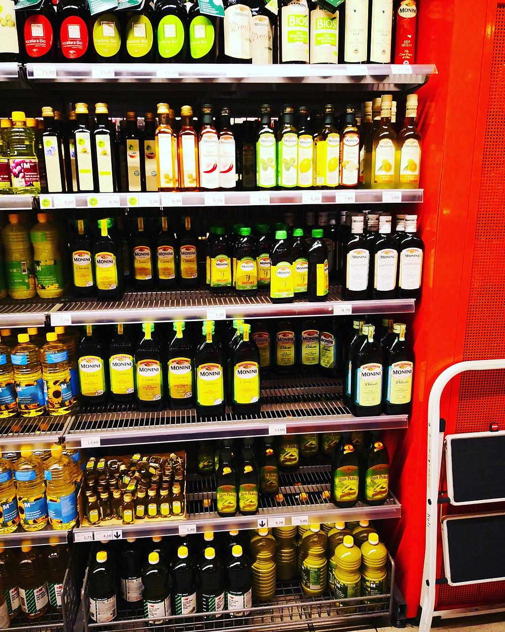 Olivenölregal bei Migros