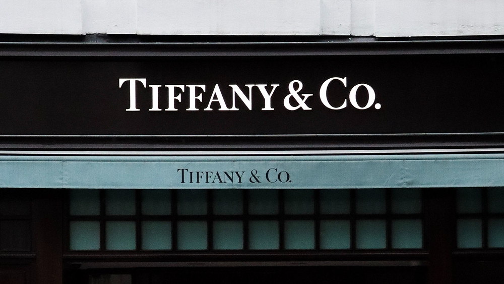 Shopfront store signage of a Tiffany & Co. store