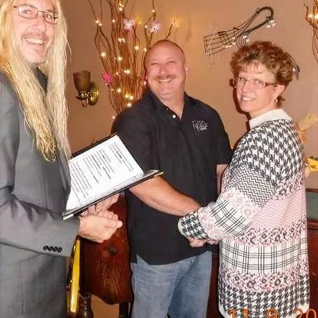 Reverend Roy Coston: Ordained since 2009               Weddings & Vowel Renewal