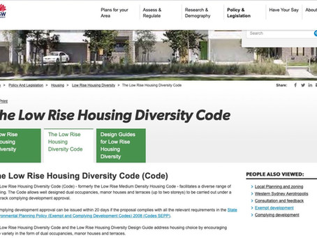 Low Rise Housing Diversity Code : Update