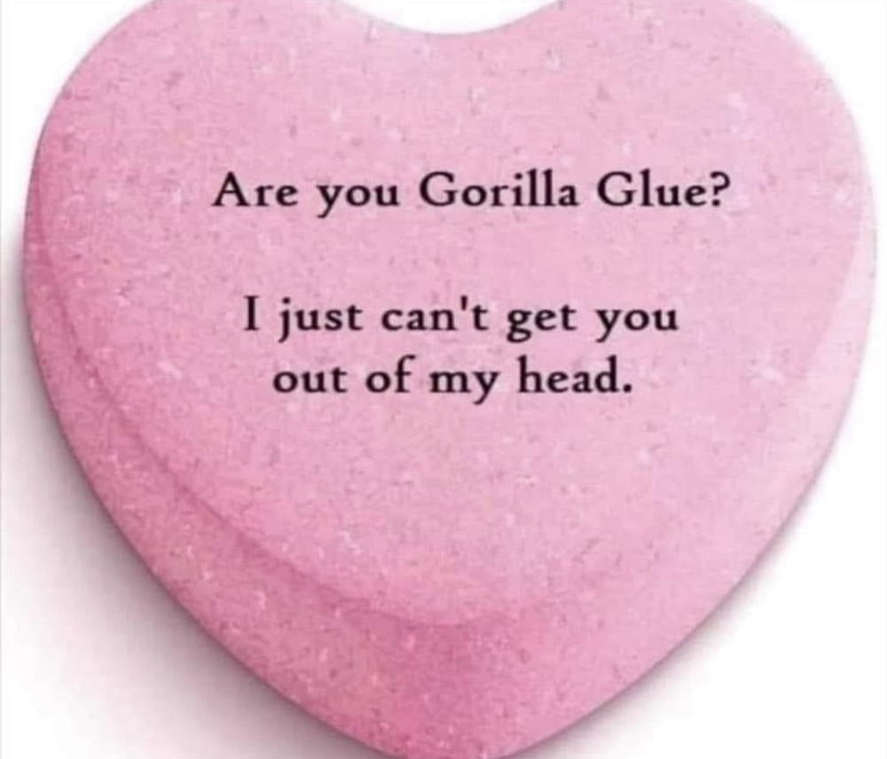 Are you Gorilla Glue? I just can't get you out of my head.