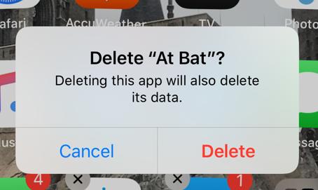 """Delete """"At Bat"""""""