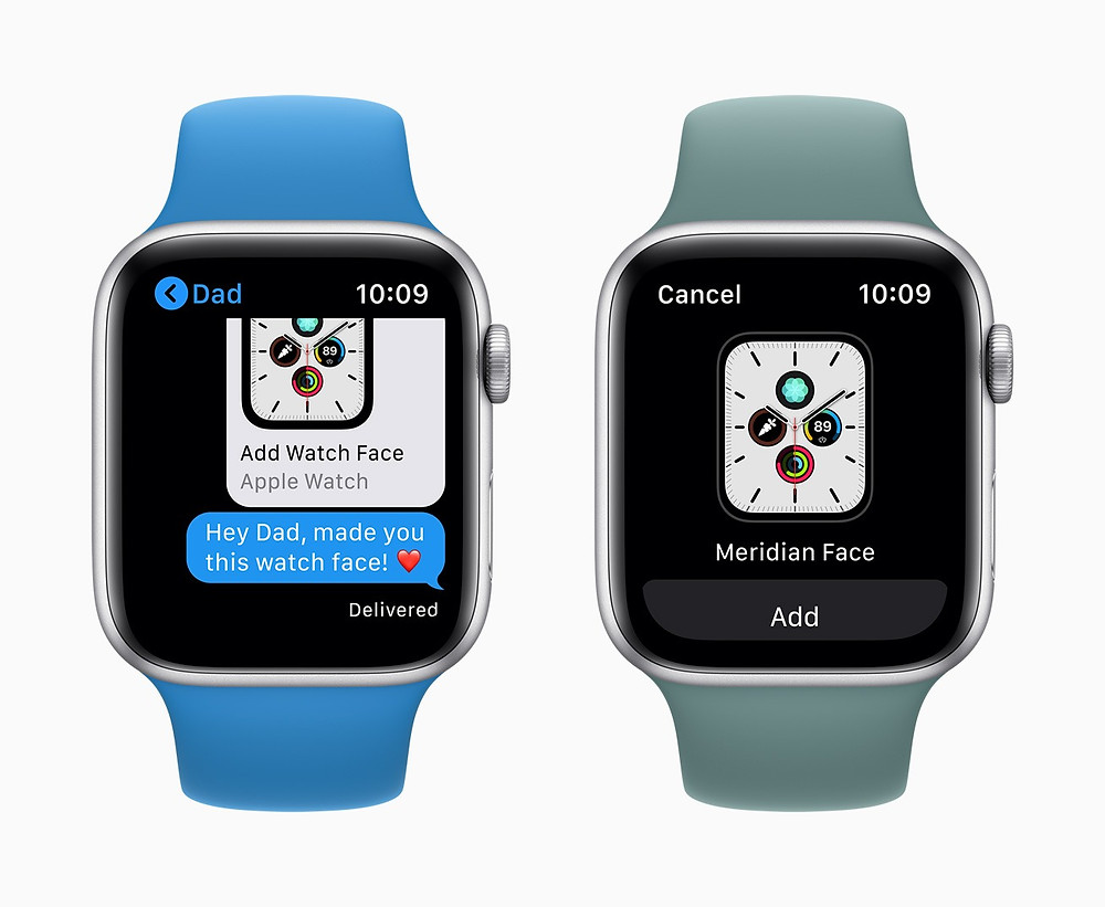 Watch face sharing comes to Apple Watch with watchOS 7 in the fall.