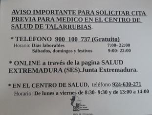 Desde el Centro de Salud nos envían como solicitar cita previa para el medico.