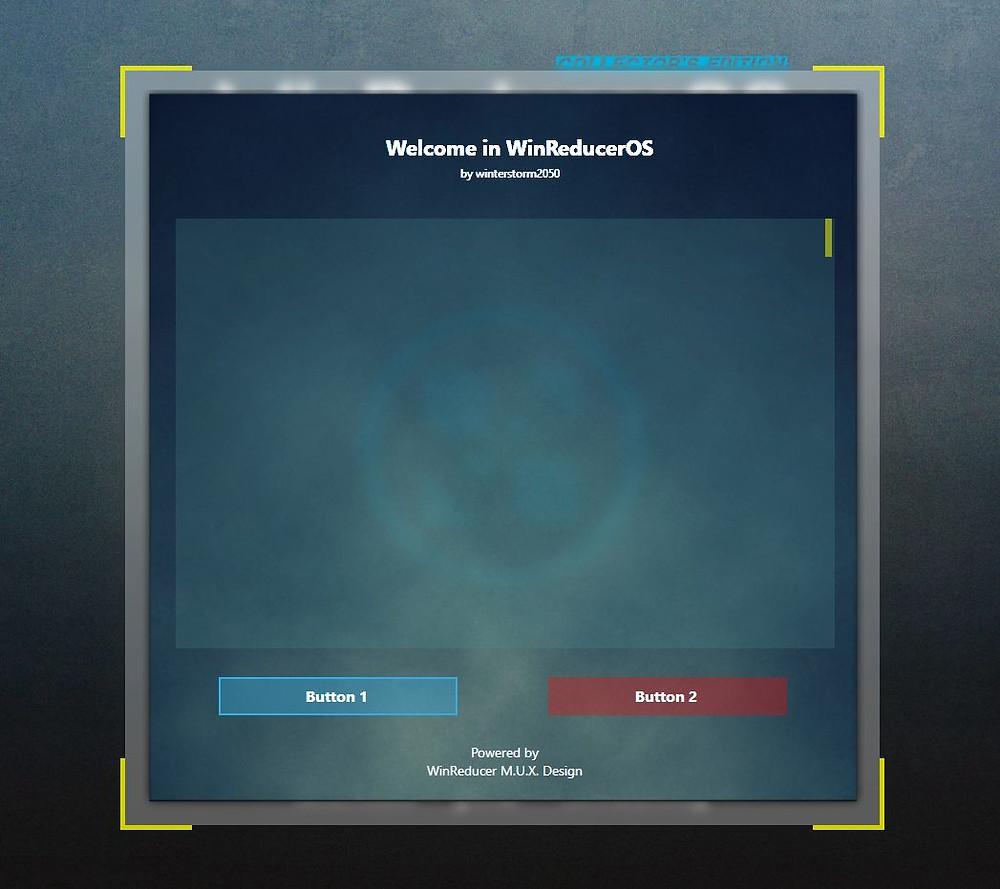 WinRedcuerOS Software GUI Design Elements