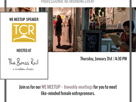 Join us for our WE Meetup on 1/31!