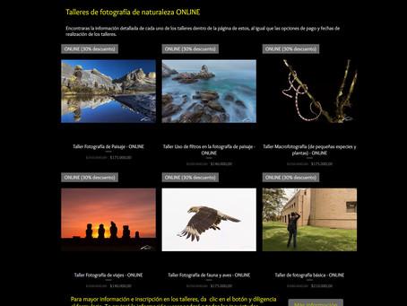 Talleres de fotografía de naturaleza ONLINE