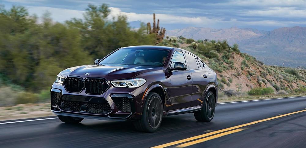 BMW X6 M Competition front angle, new color, Ametrin Metallic, Car, Automotive, Automotive news, Auto, Automobile