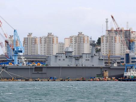 เกาหลีใต้เตรียมต่อเรือบรรทุกอากาศยานแบบใหม่ที่ใหญ่กว่าชั้น Dokdo