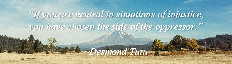 A quote about being neutral in situations of injustice by Desmond Tutu