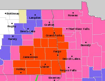 Blizzard warnings issued in North Dakota