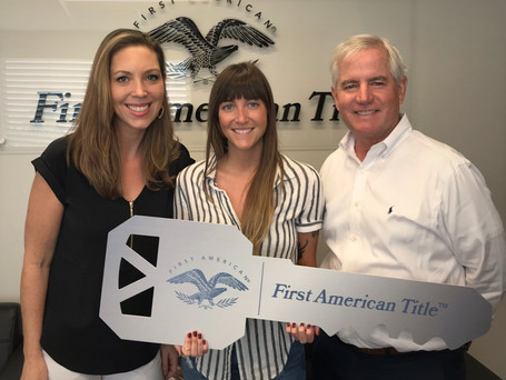 Congratulations To The First Time Home Buyer