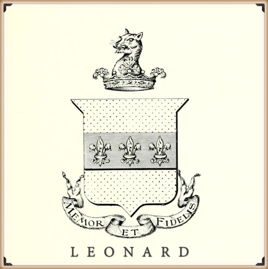 Arms-Or, (gold) on a fesse azure (blue) three fleur-de-lis argent (silver). Crest-Out of a ducal coronet or (gold), a tiger's head argent (silver).