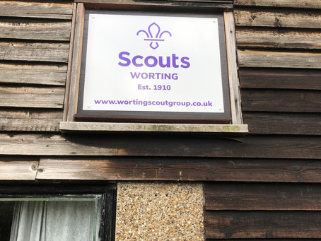 New Sign for the Scout Hut