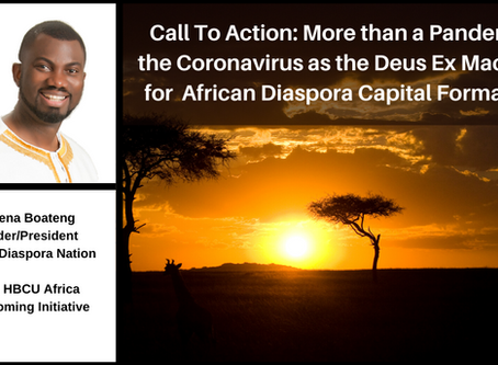 Call To Action: Coronavirus as the Deus Ex Machina for  African Diaspora Capital Formation