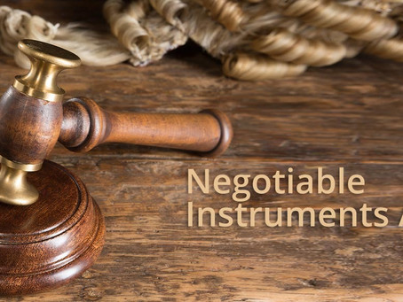 THE NEGOTIABLE INSTRUMENTS ACT, 1881: AN OVERVIEW