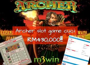Boss, cuci RM430k! Biggest win at Archer slot games!