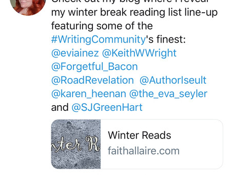 Addressed To Kill recommended on Faith Allaire's winter reading list.