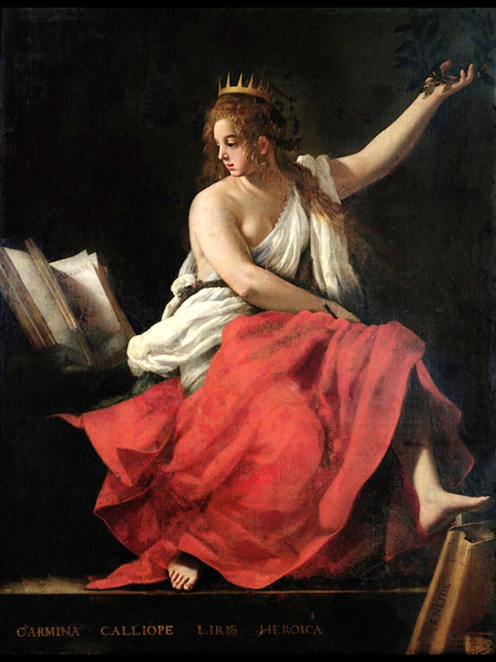 Calíope, musa da poesia épica, s.d. - Giovanni Baglione (1566-1643). - Calíope, musa da poesia épica, s.d.