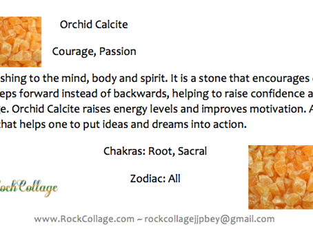 Collage Rock: Orchid Calcite