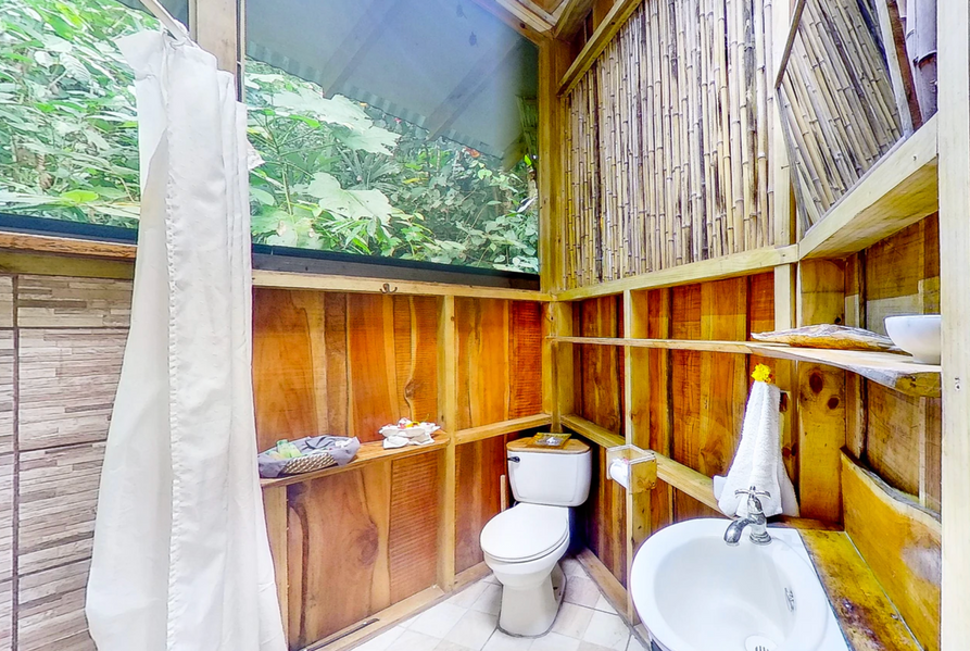 Bathroom with shower (propane hot water)