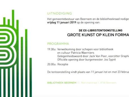 Uitnodiging tentoonstelling 'GROTE KUNST OP KLEIN FORMAAT'