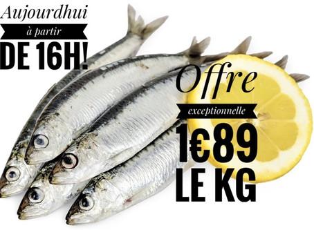 1€89 🐟 SARDINES Française🇫🇷/kg