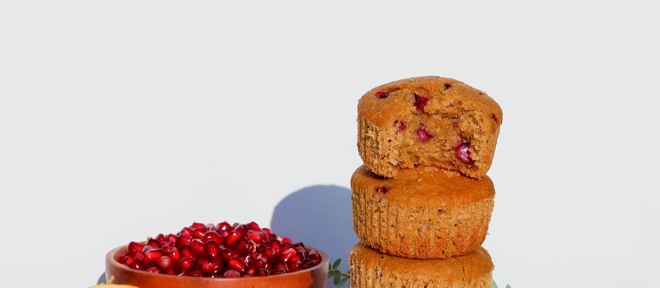 Gluten Free Vegan Orange Pomegranate Muffins