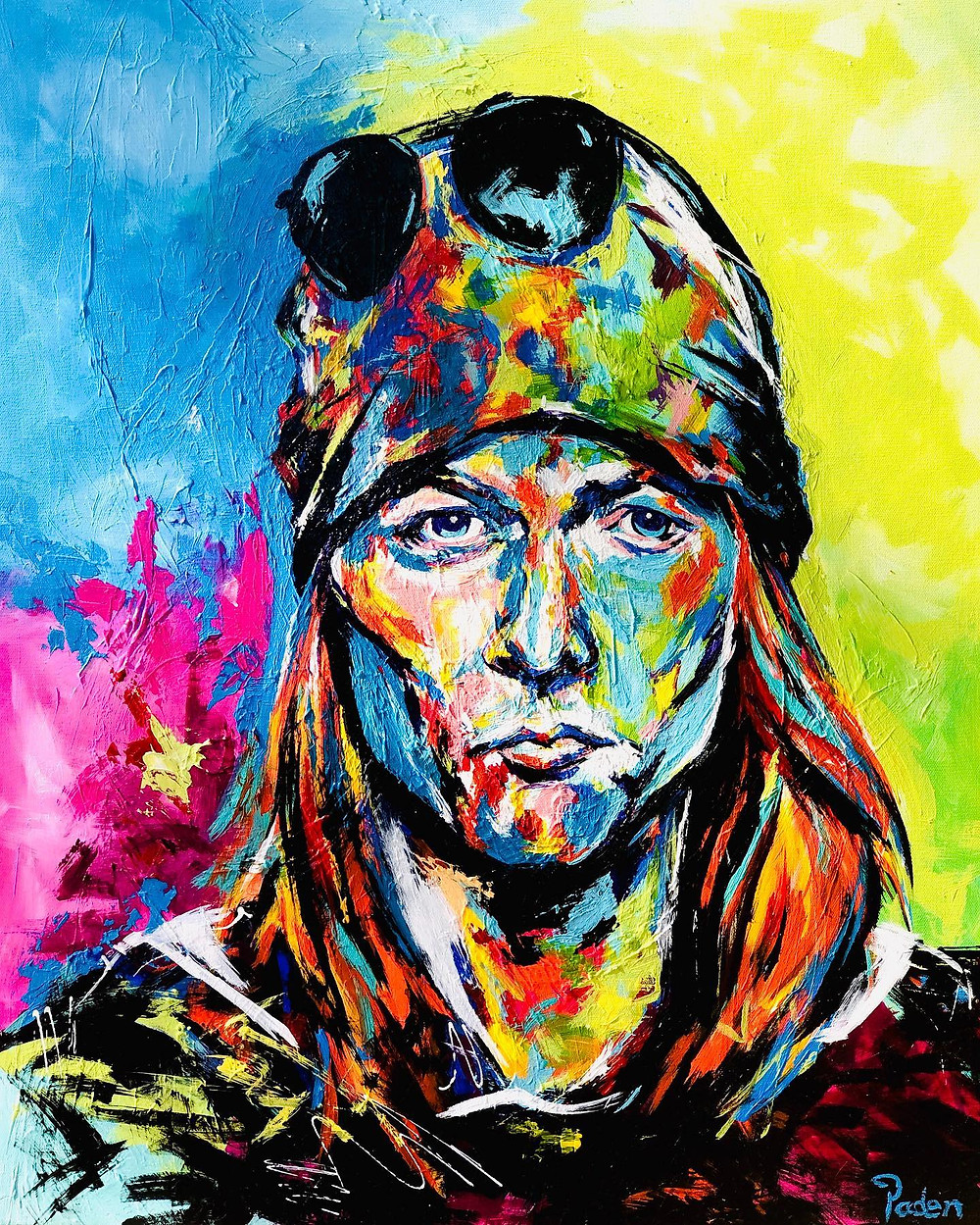 Portrait of Axl Rose by Oklahoma artist, Matthew R. Paden