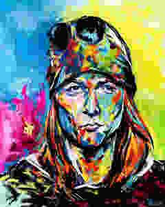 Portrait of Axl Rose by Oklahoma artist, Matthew R. Paden