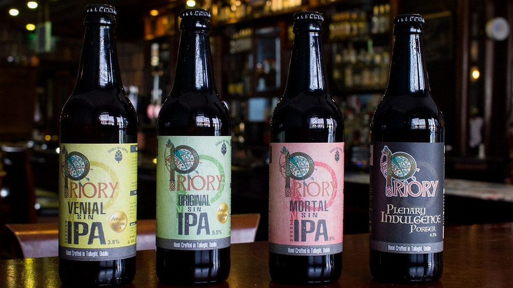 Bottles of our core range of beers.