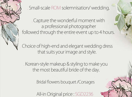 Small High-Value Packages for Small Scale Wedding