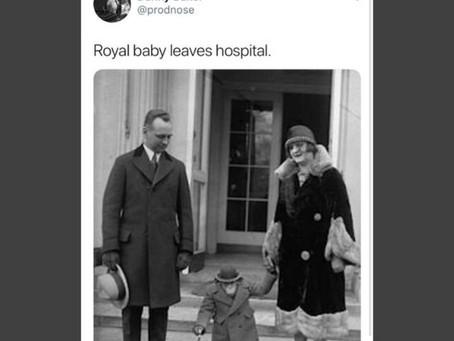 Un periodista de la BBC, fue despedido por comparar al bebé real con la foto de un chimpance