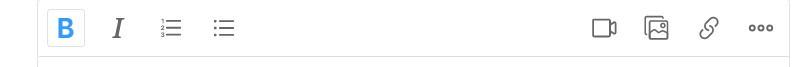 Quora Text Editing Toolbar