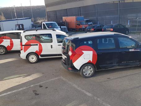 flocage flotte de véhicules commerciaux