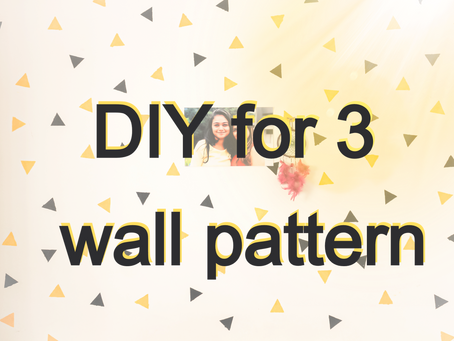DIY wall pattern painting
