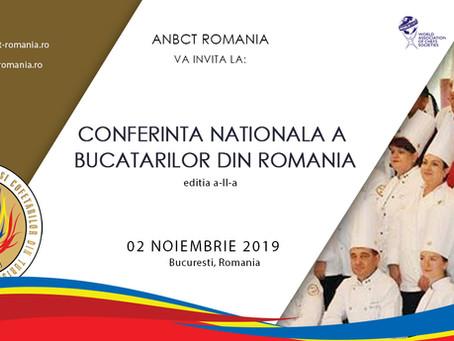 Conferinta Nationala a Bucatarilor din Romania, editia a II a, 2 noiembrie 2019, Bucuresti