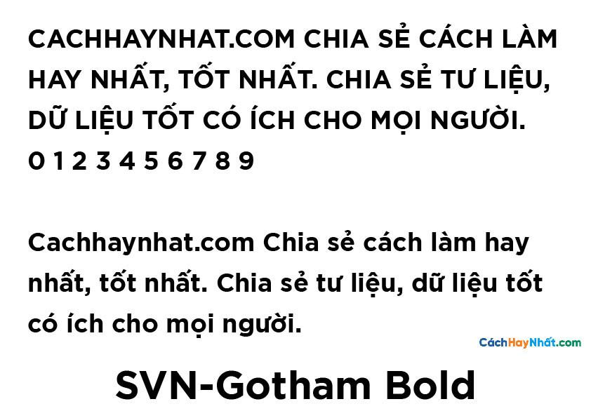 SVN-Gotham Bold