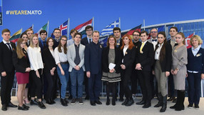 Победитель конкурса эссе посетил штаб-квартиру НАТО