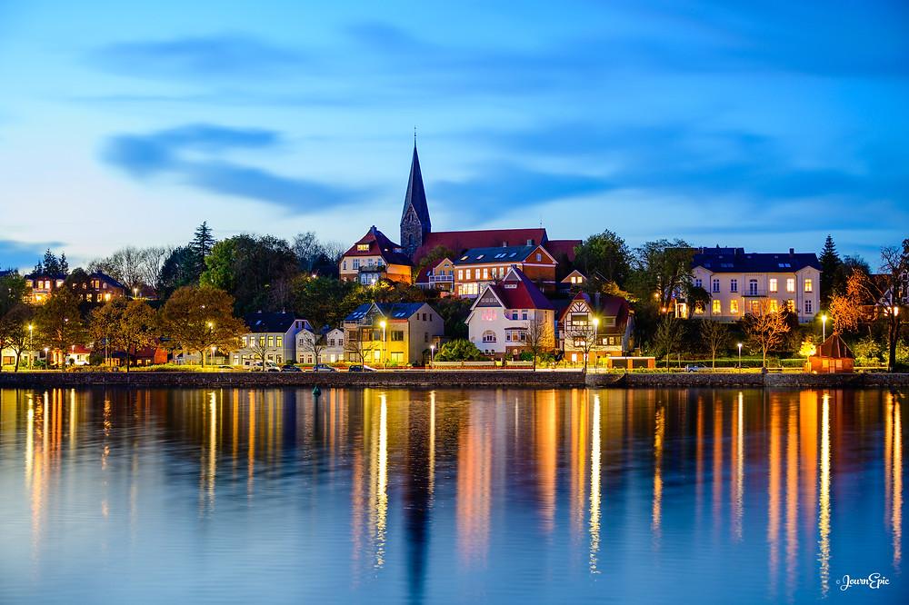 Eckernförde at sunset, Eckernförde Germany, Germany cityscape, City at lake, Reflection photography
