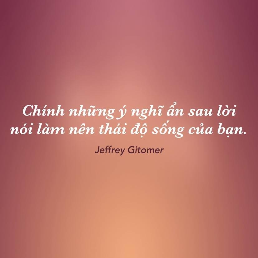 Thái độ sống Jeffrey Gitomer