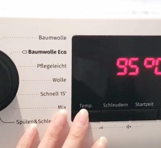 Maske desinfizieren mit 95°C in der Waschmaschine