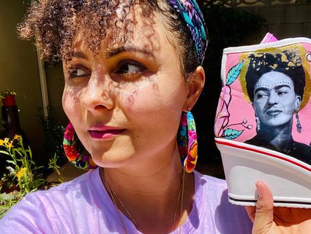 Hand-Painted Frida Kahlo Kicks