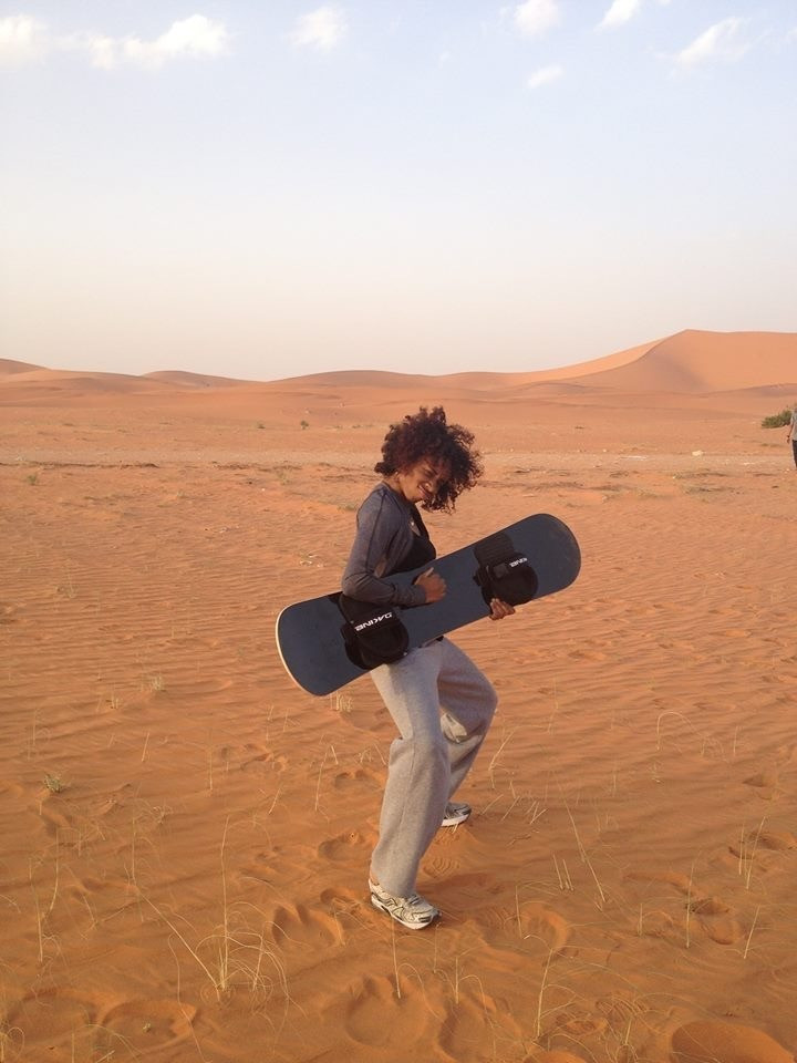 The desert of Saudi Arabia on my birthday after sandboarding