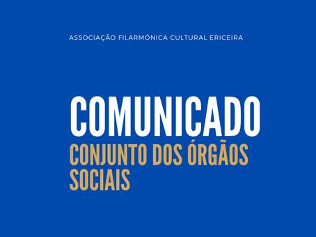 Comunicado Conjunto dos Órgãos Sociais